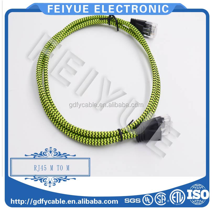 UTP CAT5e/cat6 patch Cable with Nylon Braided Jacket