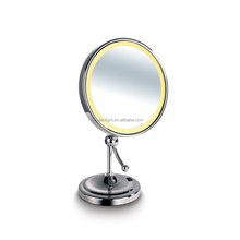 Battery Makeup LED Mirror Desk Cosmetic Mirror With Light