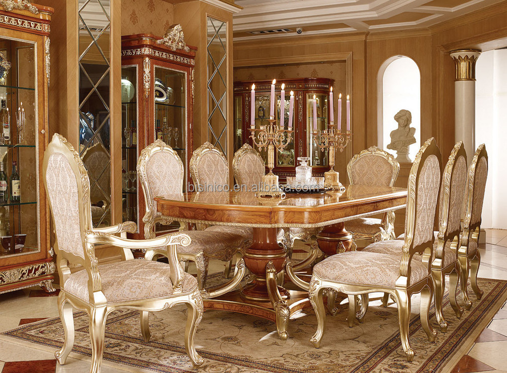 Exquisite wood carving reading table and chair luxury for Muebles de comedor elegantes
