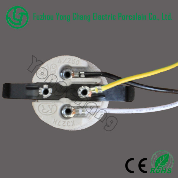 Light Bulb Socket and E27 porcelain L&holder with wires and bracket : light socket wiring - yogabreezes.com