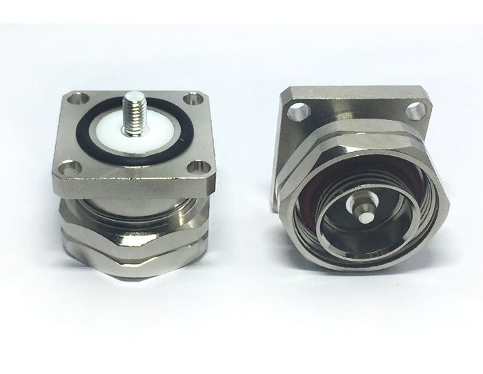 RF Coaxial bulkhead 7/16 DIN female jack flange connector with 23mm M5 connector