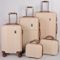 5 pieces set Hardside Spinner luggage travel bag abs tsa lock abs pc film trolley luggage case