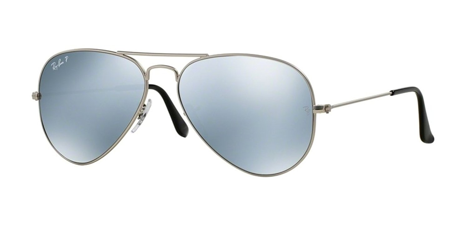 4f81a45a14 Get Quotations · Ray Ban Rb3025 Metal Aviator Limited Edition 019 w3 Silver    Silver Mirror Polarized Lenses
