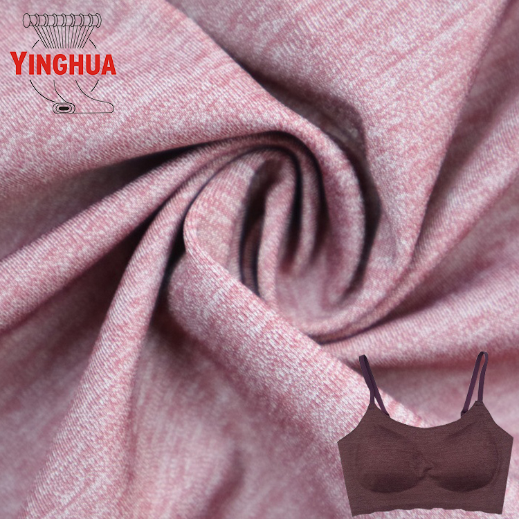 2018 hot selling yoga clothing sportswear combined yarn fabric.