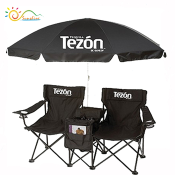 Double Folding Chair W Umbrella Table Cooler Foldable Beach Camping Chair  With Backpack   Buy Folding Camping Chair,Folding Beach Chair With ...