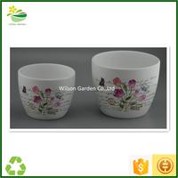 Pottery planters glazed plant pot clay gardening pots