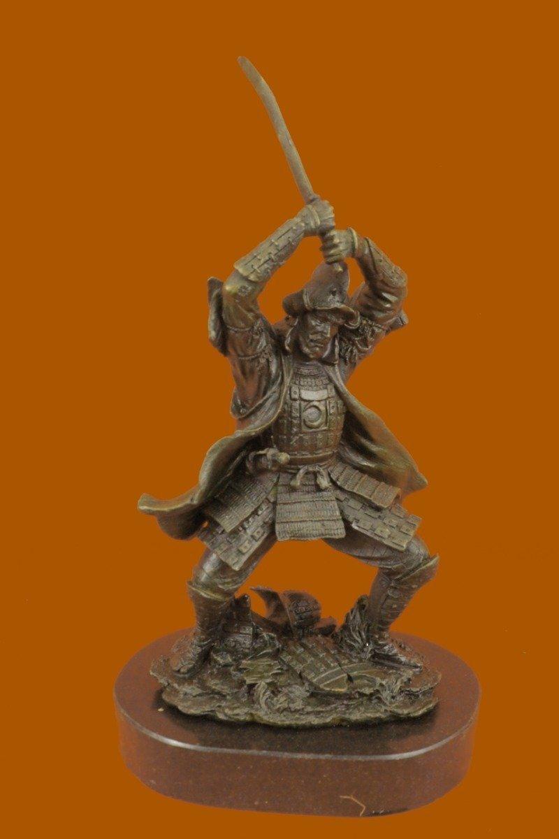 buy handmade european bronze sculpture samurai warrior genuine
