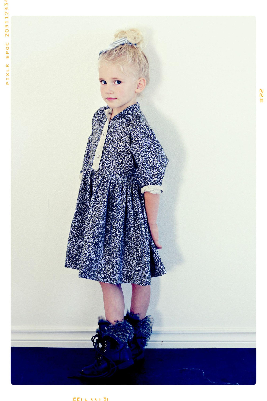 Latest cotton frocks design autumn baby girl long sleeve dresses