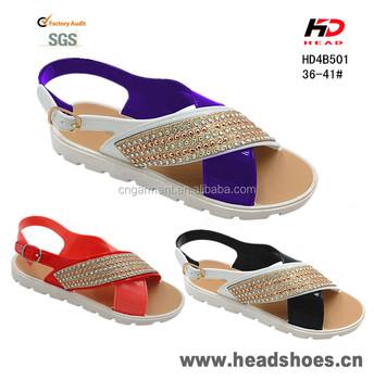 2016 Ladies Sexy Pvc Flat Sandals