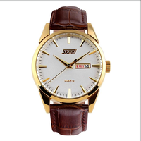luxury style big wrist waterproof gold watches mens