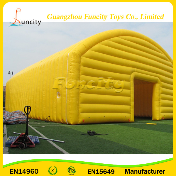 Durable inflatable sport tent,outdoor yellow inflatable sport hall for sale