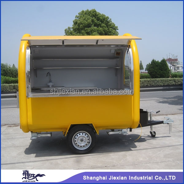 JX-FR220B New Arrival Mobile Kitchen Food Cart Truck Outdoor/ Customized China Hand Push Fryer Crepe Mobile Food Cart