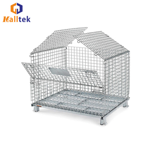 Galvanized Metal Warehouse Wire Container