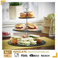 Wedding&Party cake decorating 3 tier slate cake stands wholesales
