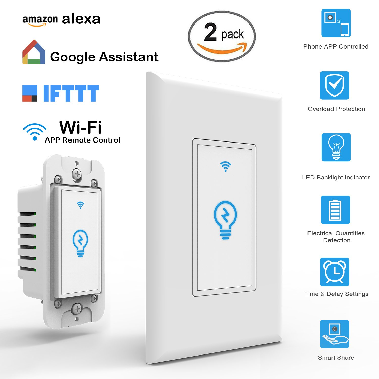 Cheap Light Sensitive Switch Circuit Find Wall Wiring Get Quotations Arvin Compatible With Alexa In Mobile Phone App Remote