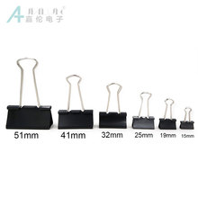 JIALUN 120 개 <span class=keywords><strong>바인더</strong></span> Clips Black Assorted Size Clip, Black 종이 Clips Metal, Different Size 의 <span class=keywords><strong>바인더</strong></span> Clips