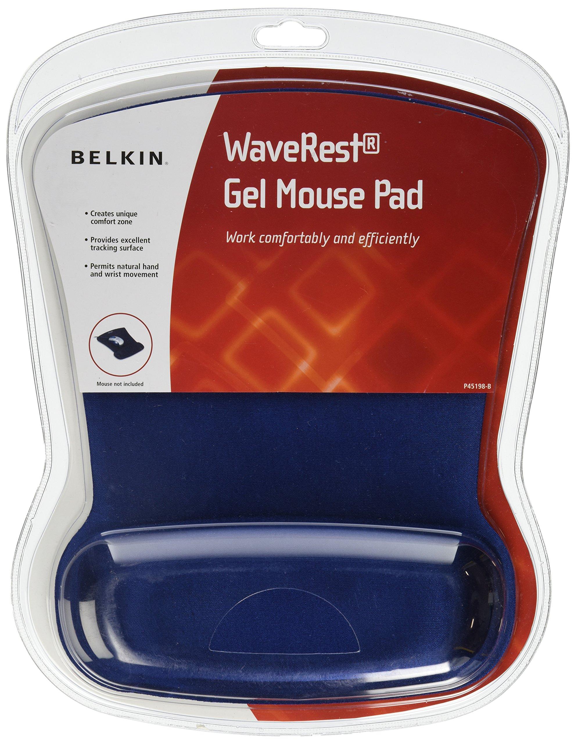 Belkin WaveRest Ergonomic Gel Mouse Pad with Wrist Support (Blue) (F8E262-BLU)