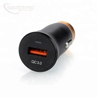 2018 High Quality Aluminium QC3.0 Single USB Car Charger for Iphone for Android