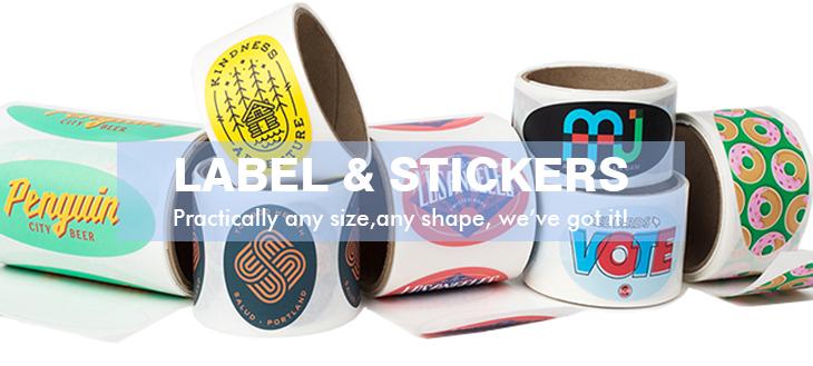 Etiqueta engomada del papel del nombre del adhesivo impreso del logotipo de la marca de encargo del precio barato