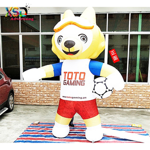 2.5m inflatable wolf mascot for football game