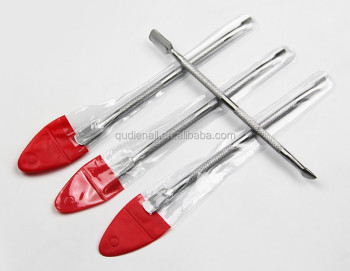 Factory Cheap Price Nail Care Tools And Equipment Stainless Steel Silver Pusher