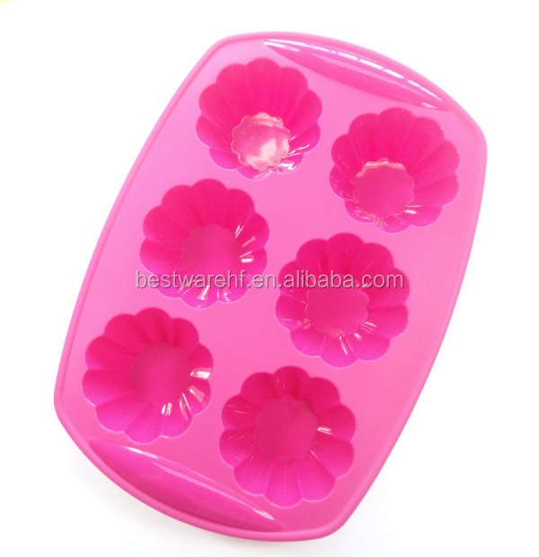 Christmas Mould 6 cupS silicone muffin pan Chocolate Muffin Pan