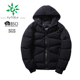 Men's Winter Casual Puffer Jacket Hooded Parka Coat with Fixed Hood