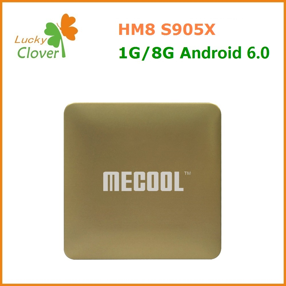 High tech s905x android 6.0 marshmallow tv box HM8 s905x smart tv box 8gb mini digital for sale in set top box