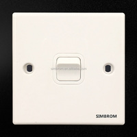 Factory price PC 250V 1 Gang 13A electrical 3 Pin Plug wall socket and switch