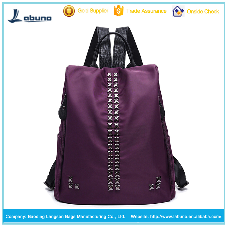 Teens beautiful durable leisure fashionable nylon backpack for girls