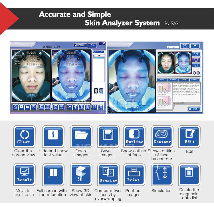 Huid vocht sensor skin vochtmeter analyzer test