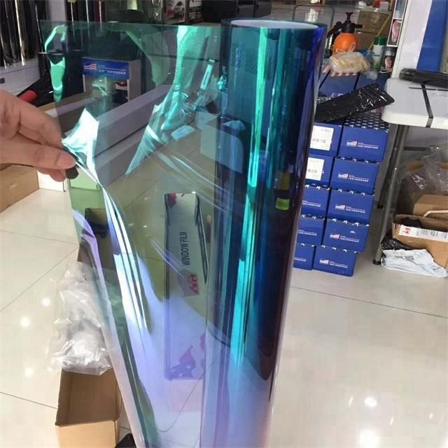 Chameleon windows verven solar car solar film glas bescherming chameleon car window film