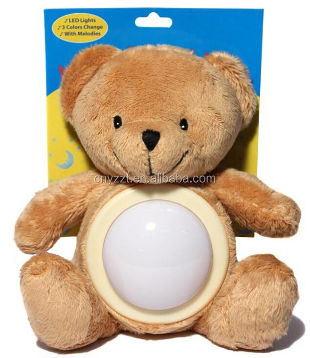 Free Sampe Plush Stuffed Soft Animal Night Light Up Teddy Bear ...