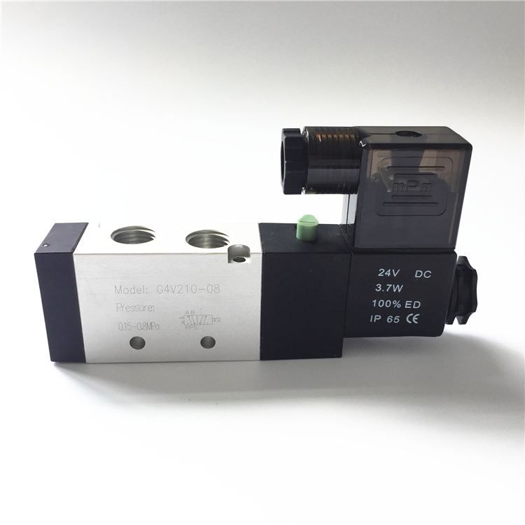 "New type waterproof and dust-proof Pneumatic solenoid valve 4V210-08 1/4"" BSP 5 way 2 position <strong>Gas</strong> reset runxin control valve"