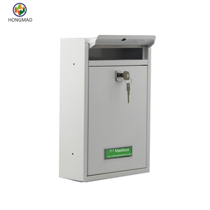 High Security Steel Locking Wall Mounted Mailbox - Office Drop Box