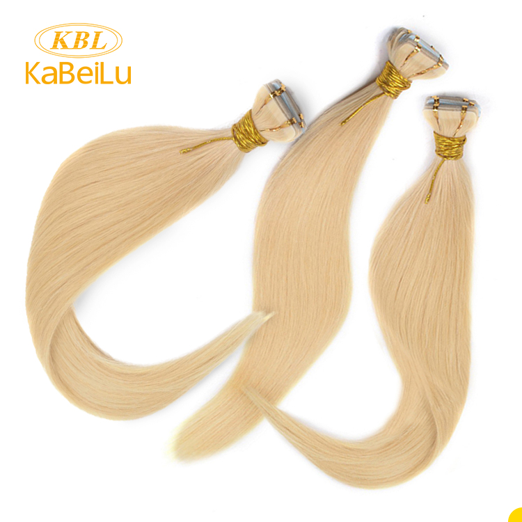 Wholesale european straight 100 tape in human hair extensions,double drawn tape hair extensions,wholesale tape hair extention