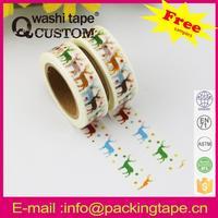 Qcustom custom printed wall deco washi paper tape with high quality