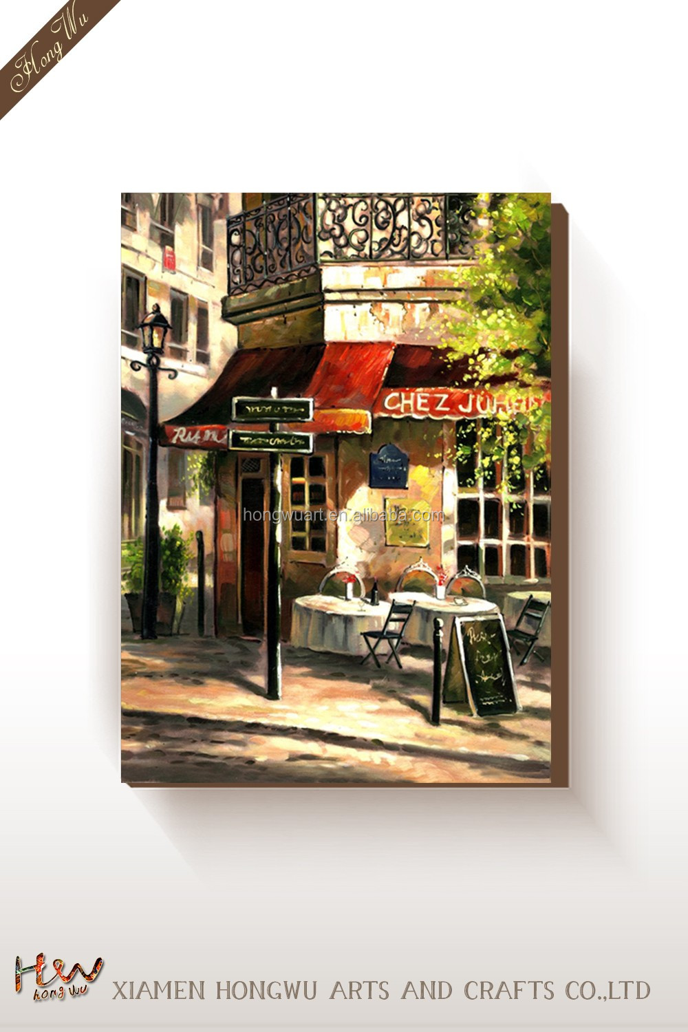 Printed Paris Street Canvas Art Picture Painting