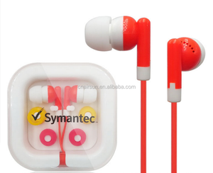 Cheap Colorful Earphone With Plastic Box For Promotion