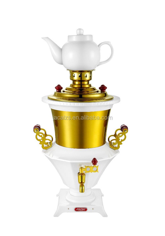 2017 NEW SS304 tea set samovar with metallic handle and cover tray