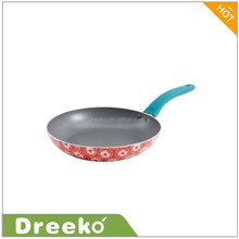 "10"" Nonstick Decorated Frying Pan with Soft-Touch Handle"