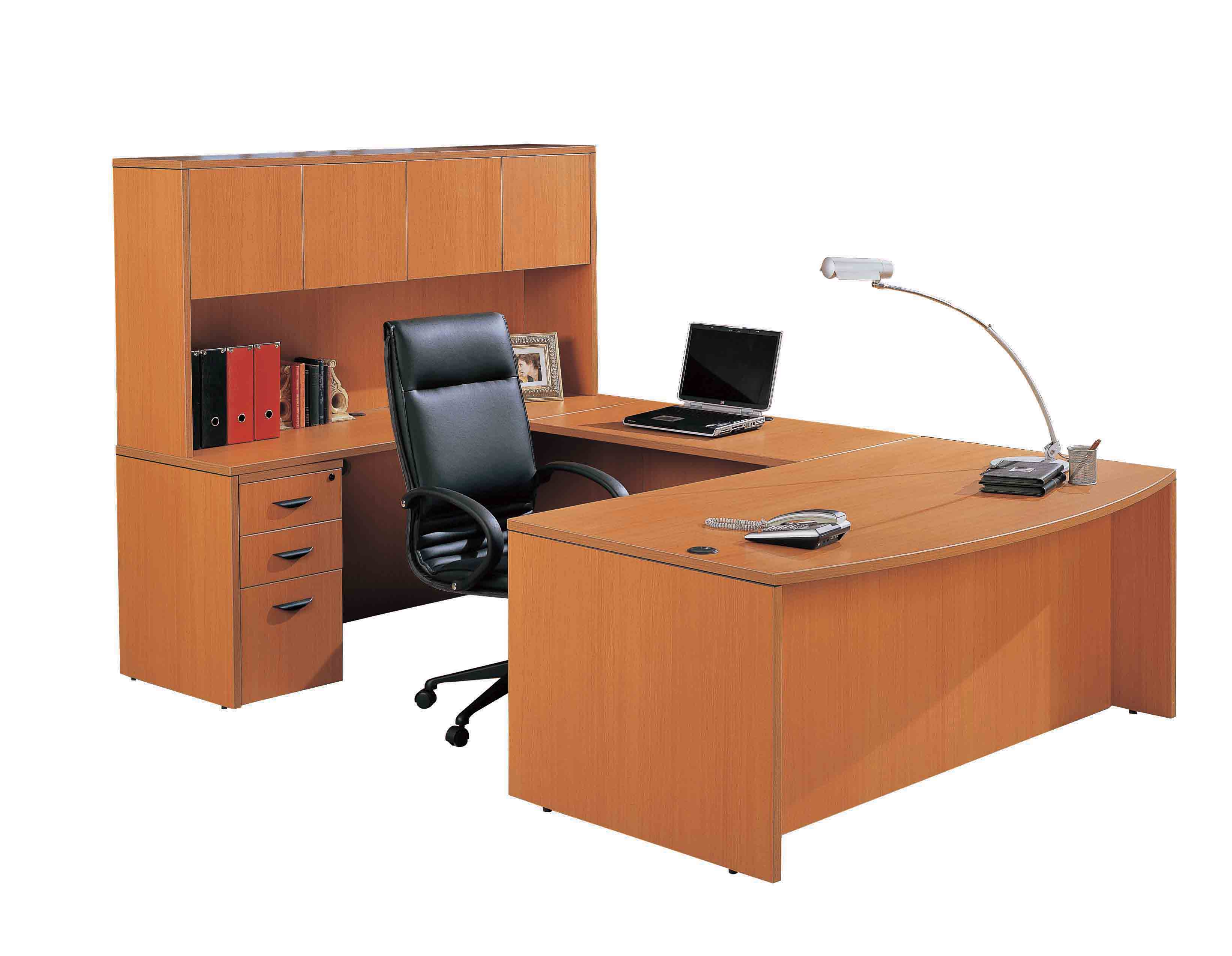 Laminte Office Furniture U-shaped Desk With Hutch/high Quality Melamine  Office Desk - Buy Office Furniture,Office Desk,Office Desk With Hutch  Product ...