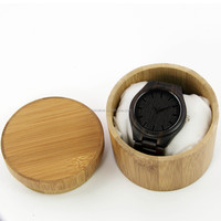 Wholesale NO MOQ Quality Engraving Logo Bamboo Wooden Watch Box