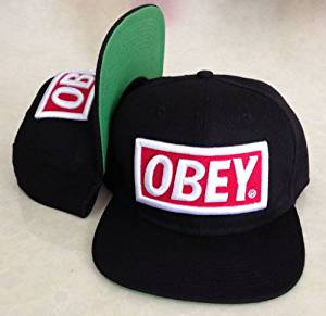 42cd6d810e32e Get Quotations · Premium Original Flexfit OBEY Fitted Snapback Cap Hat