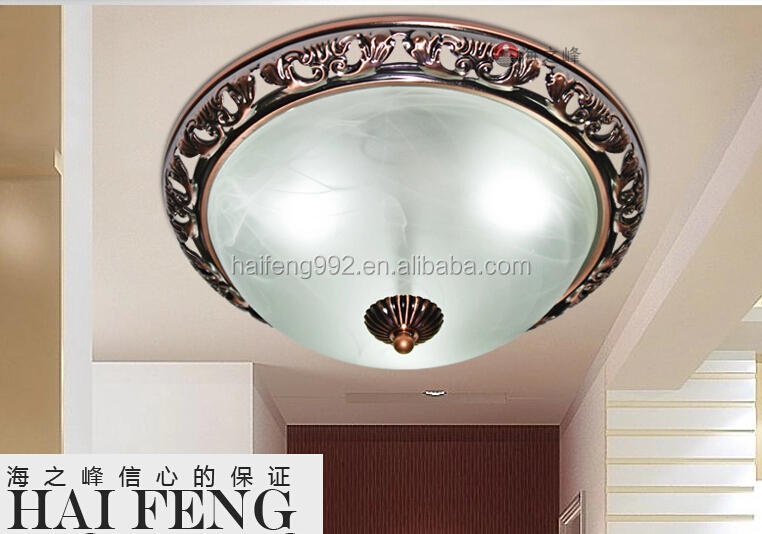 Iron Base Glass Cover Indoor Wall Light Glass Ceiling