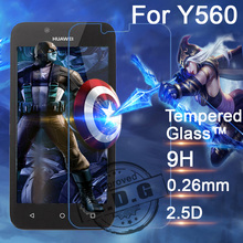 0.26mm 9H Explosion Proof Anti scratch LCD Tempered Glass Film For Huawei Y5C Y560 Screen Protector Film
