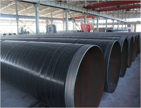 three layer pe and epoxy coatd steel pipe for oil and gas supply