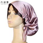 19mm/22mm/25mm Pure Silk Sleep night cap,silk bonnet with lace prevent hair from getting messy OEKO-Tex100