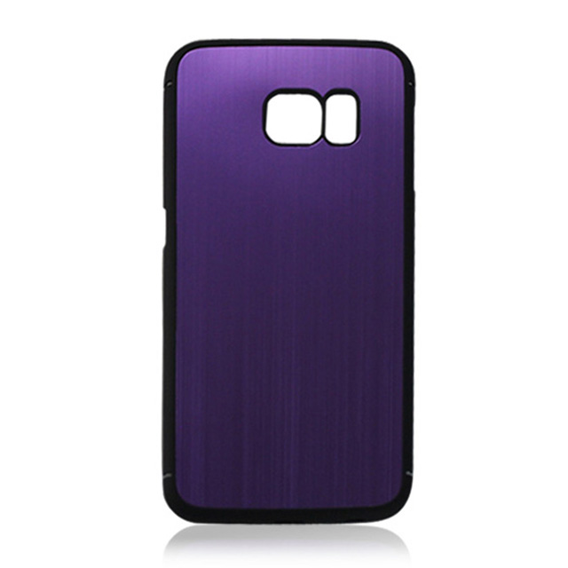 Wholesale accept custom for <strong>Samsung</strong> <strong>S6</strong> <strong>Edge</strong> black leather oil PC material <strong>case</strong> stick silk grain aluminum flake mobile phone <strong>case</strong>