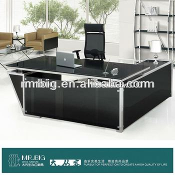 DB032 Mr.BIG Glass Top Executive Desk/Office Table